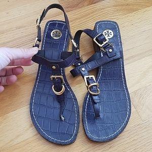 Beautiful Tory Burch Navy sandals